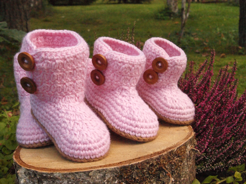 Villased beebipapud vastavalt suurusele: 6-9, 3-6 ja 3-0 kuud.