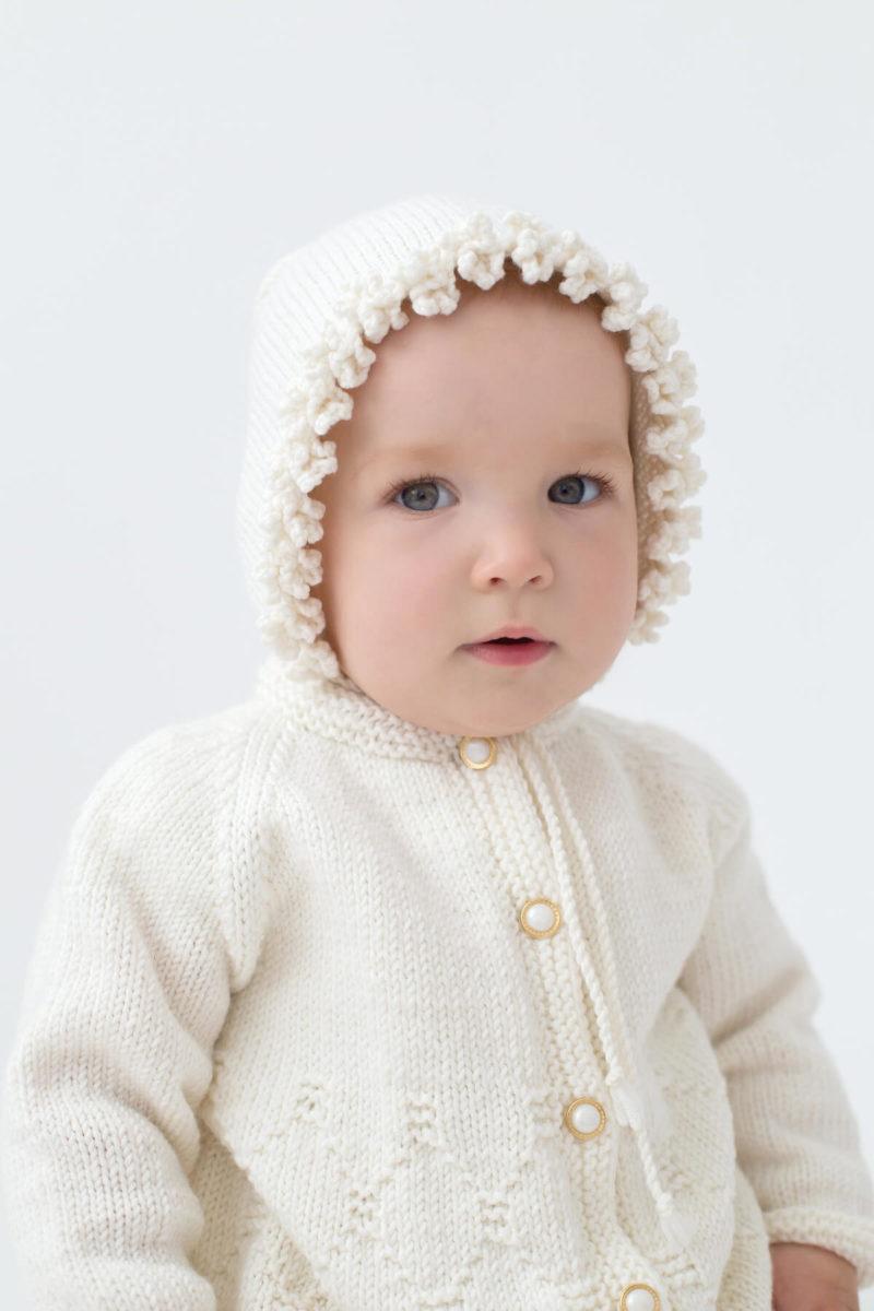 käsitöö, beebi kampsun, beebi papud, villased heegeldatud papud