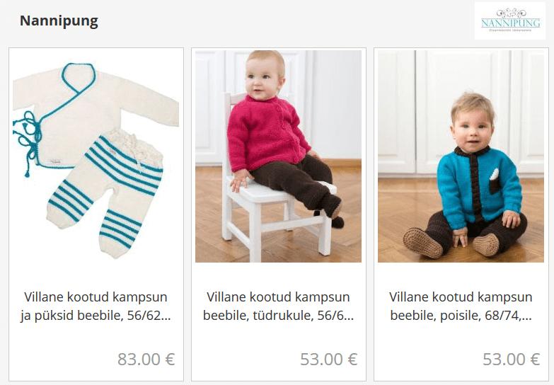 nannipung, eesti disain