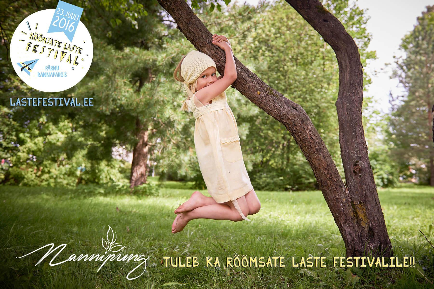 Nannipung rõõmsate laste festivalil